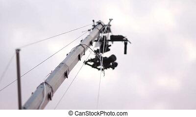 camera crane in action