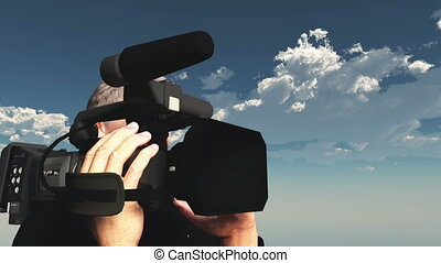 camera crew  - image of camera crew