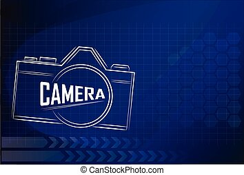 camera design on technology background ,vector illustration.