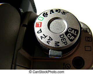 Camera Dial - A camera dial on an slr camera body.