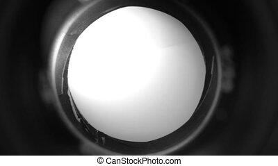 Diaphragm camera shutter blade