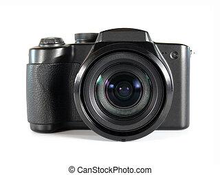 Camera - digital photo camera on white background
