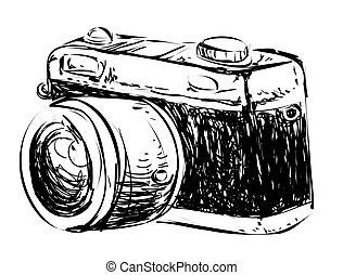 Camera Doodle Illustration