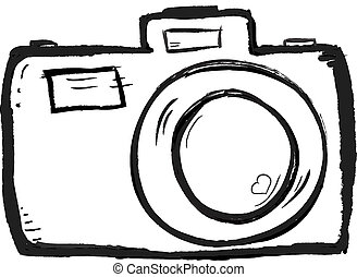 Camera drawn - Line art camera