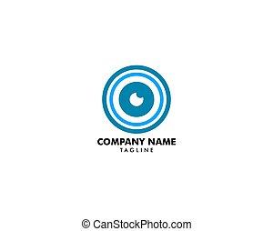 Camera Eye Logo Design Template