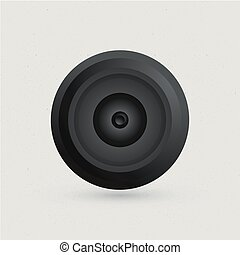 camera eye on white background