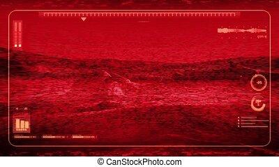 Camera Feed POV On Alien Planet