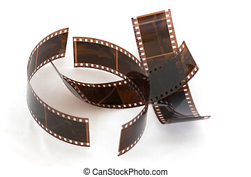 Camera Film - Camera film, processed, on white, isolated
