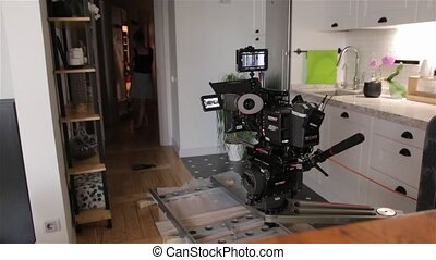 Camera Film Dolly Set - Camera film dolly set on rails...