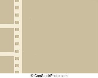 camera film on brown background