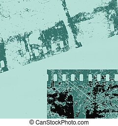 camera film on grunge background, vector illustration