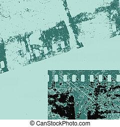 camera film on grunge background, vector illustration