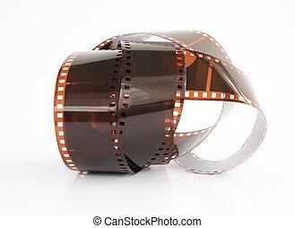 camera film  on white background