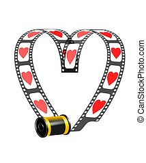 Camera Film Role With Hearts - An illustration of camera...
