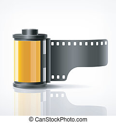 Camera film roll  - Camera film roll, vector illustration