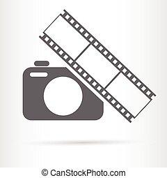 camera film strip icon