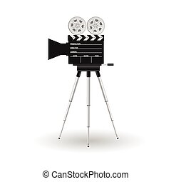 camera film tape vector illustration