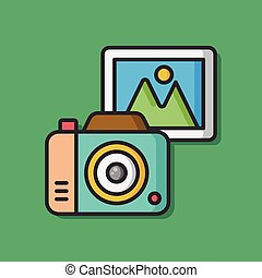 camera film vector icon