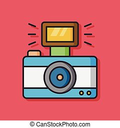 camera film vector icon