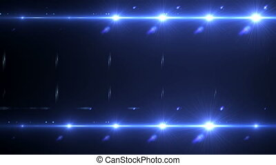 Camera flash flare, floodlights in the dark space abstraction, 3d rendering, backdrop for nightlife and concert creative
