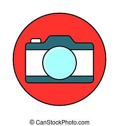 Camera flat line icon