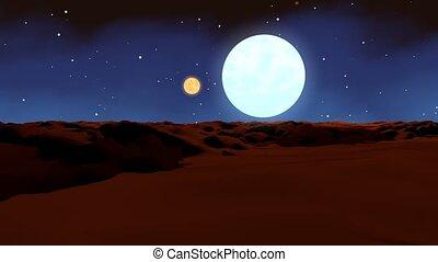 """""""Camera flight at an landscape on planet Mars"""""""