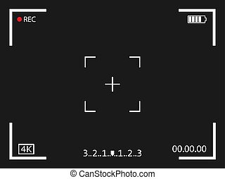 Camera frame viewfinder screen icon. Vector illustration.