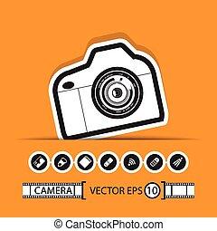 camera gadget set ,Illustration eps