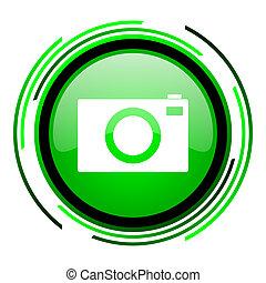 camera green circle glossy icon
