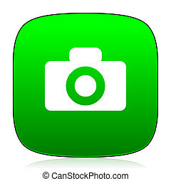 camera green icon for web and mobile app