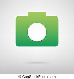 Camera. Green icon