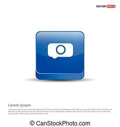 Camera Icon - 3d Blue Button