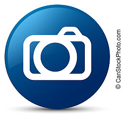Camera icon blue round button