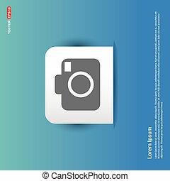 Camera Icon - Blue Sticker button