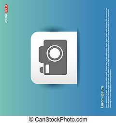 Camera Icon - Blue Sticker button