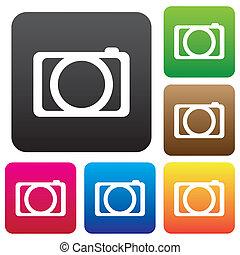 Camera icon  button.