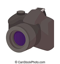 Camera icon, cartoon style