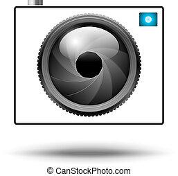 Camera Icon - Vector Camera Icon isolated on white...
