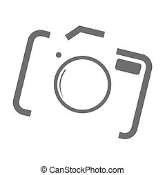 Camera Icon - Abstract camera icon on the grey background