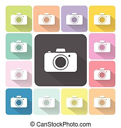 Camera Icon color set vector illustration