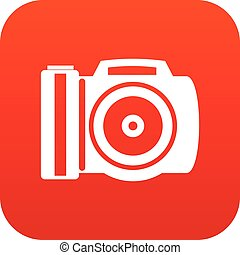 Camera icon digital red