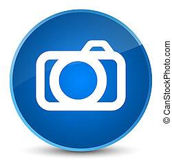 Camera icon elegant blue round button