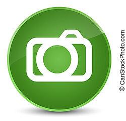 Camera icon elegant soft green round button