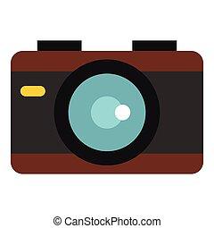 Camera icon, flat style