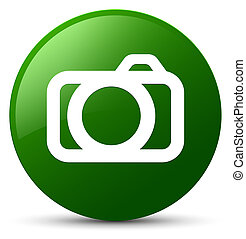 Camera icon green round button