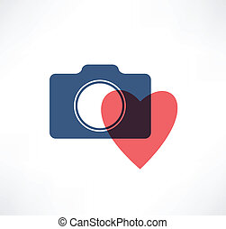 Camera icon. I love photography