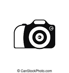 Camera icon in simple style