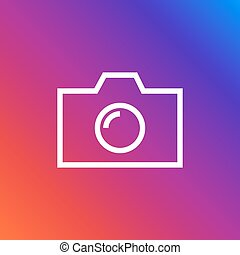 Camera Icon in trendy flat style isolated on colorful background. Camera symbol for your web site design, logo, app, UI.