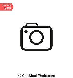 Camera Icon in trendy flat style isolated on grey background. Camera symbol for your web site design, logo, app, UI. Vector illustration