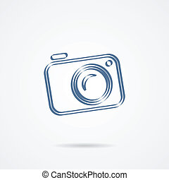 Camera icon isolated on a white background